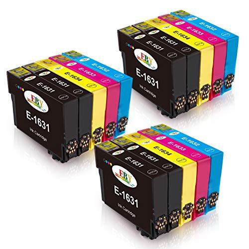 EBY 16XL Druckerpatronen Ersatz für Epson 16 Kompatibel mit Epson Workforce WF-2630 WF-2660 WF-2760 WF-2510 WF-2750 WF-2540 WF-2530 WF-2010 WF-2650