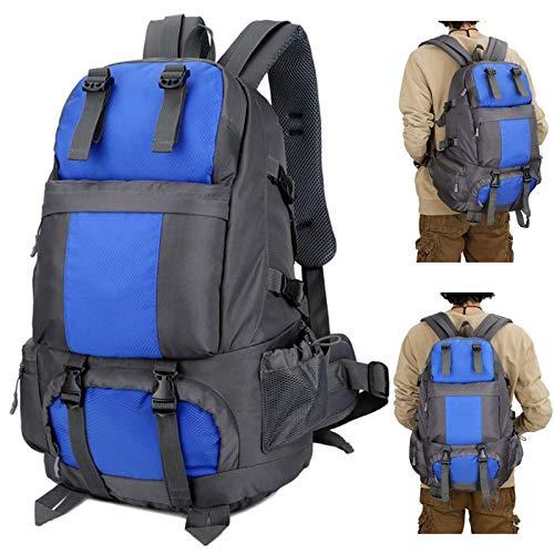 Belleashy - Zaino da campeggio da 50 l, impermeabile, per attività all'aria aperta, da viaggio, per campeggio, trekking, viaggi all'aperto (dimensioni: taglia libera; colore: blu)