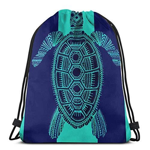 Lmtt Bolsas con cordón Mochila de tortuga marina Bolsas de tirar de cuerda Almacenamiento deportivo a granel Gimnasio para mujeres Hombro Camping Picnics Mochila como imagen