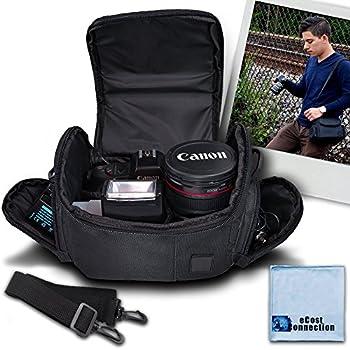 Medium Soft Padded Camera Equipment Bag / Case for Nikon D300 D300S D3000 D3100 D3200 D5000 D5100 D5200 D5300 & More… + Microfiber Cloth
