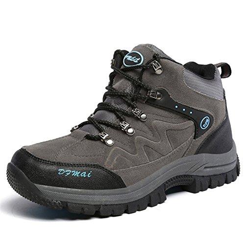 Zapatos de Trekking Calzado de Protección Deportes de Exterior Bota de Senderismo Hombre, Grey, 43