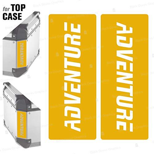 2 adhesivos reflectantes compatibles con Givi Monokey Trekker Outback Baúl de aluminio Top Case 37 42 48 L (amarillo)