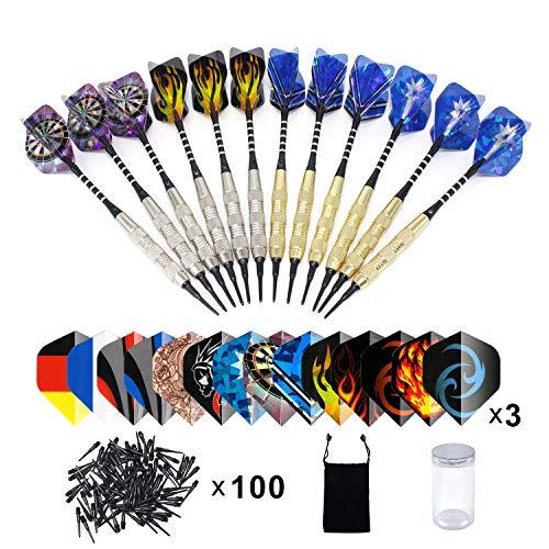 Dardos Diana Electronica(18g), Colourstone Set de 12 Dardos con Punta de plástico para Bar Dianas Electrónicas de Dardos Profesionales