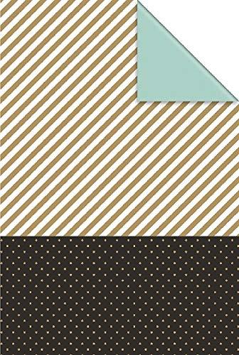 Stewo Geschenkpapier Duo Iden gold (Rolle 50 cm)