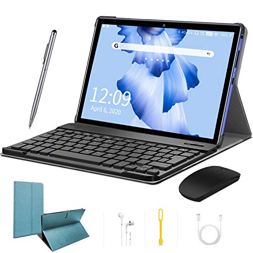 10 Inch Tablet Android 9.0 Pie Tablet PC 4G Dual SIM Card 4GB RAM 64GB ROM Quad Core Unlocked Tablets 8000mAh Battery WIFI GPS Tablet PC GMS Certification (Blue)