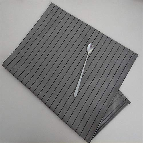 Fijner Herbruikbaar Textiel Servet Klassiek Grijs Serie Ruitjes en Strepen Design Thuisgebruik Keukendoek Stof Tafel Achtergrond, Design 2