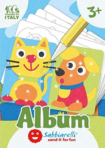 Sabbiarelli Sand-it for Fun - Album Primi Disegni: 5 Fogli Adesivi da Colorare con la Sabbia (Non Inclusa), Adatto per Bambini Anni 3+