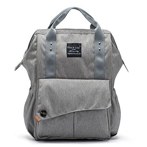 SoHo NoLita Diaper Bag Backback 3Pc - Gray