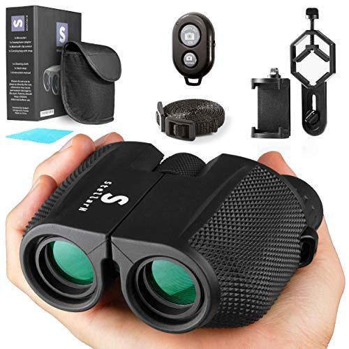 Compact Lightweight Binoculars with Camera Kit12x25 Small Binoculars Take Pics & Videos, Concert Binocular, Travel, Cruise Ship, Bird Watching Great for Travel Adults,Kids