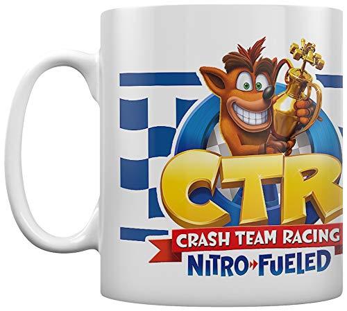 Crash Bandicoot MG25572 - Taza de cerámica (315 ml), diseño de carreras