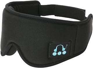 IPOTCH Sovhörlurar 3D ögonmask, Bluetooth 5.0 trådlös musikmask, ögonskugga skydd ögonbindel för män kvinnor sover, resor...