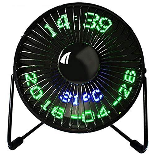 GTRB fan Nuovo ventilatore di vendita caldo a led Usb Mini ventilatore con display della temperatura in tempo reale Ventole di raffreddamento desktop 360 per home office