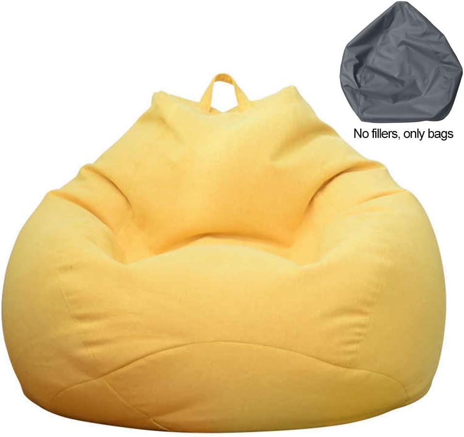 Pour adultes et enfants Stecto Housse de pouf pour fauteuil ou canap/é Sans remplissage Grand pouf ultra doux