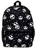 Disney Jack Skellington 16' Backpack Cargo Bag Nightmare Before Christmas Print