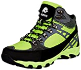 GUGGEN MOUNTAIN Zapatillas de Senderismo Zapatos para Caminar Botas de Monta–a Montana Mujer M011, Color Verde, EU 38