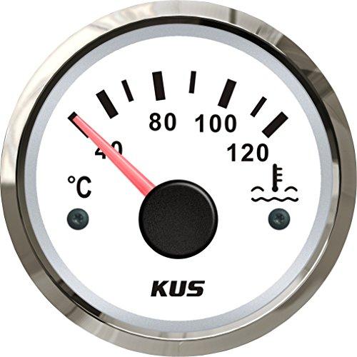 KUS étanche Température de l'eau Indicateur de jauge de température Mètre 40-120℃ avec rétro-éclairage 12V/24V 52mm