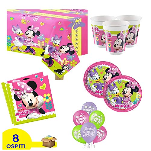 ocballoons - Kit de fiesta de Mickey Mouse 8 personas, 1