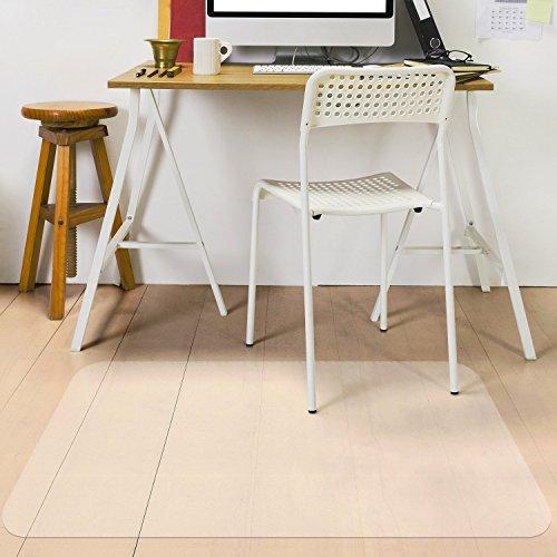 MVPower Polycarbonat Bodenschutzmatte Transparent PVC Büromatten Bürostuhlunterlage für Hartböden Laminat, Parkett und Fliesen (1 Stück)