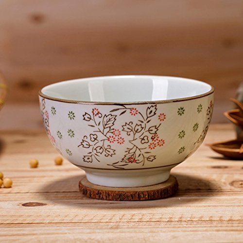 CLG-FLY Jingdezhen ceramic glaze hand-painted bowl Steamed Rice bowl 5 inch blue and white bowl bowl,One