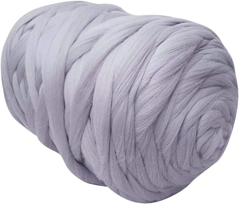 Chunky Merino Roving 6.6lbs Light Grey Large special price Big Super Wholesale Soft Wool Bulky