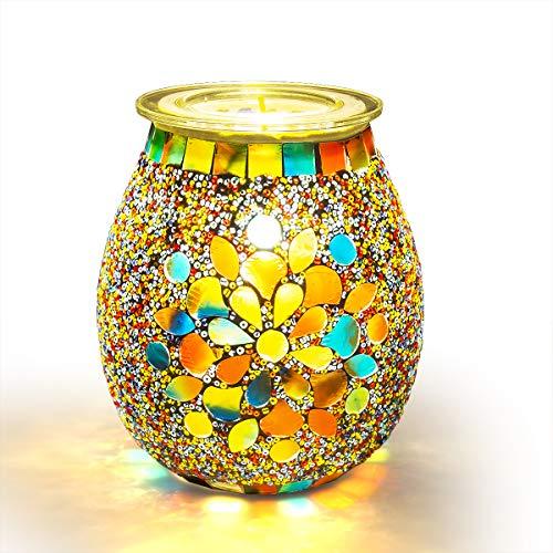 Foromans Handcrafted Mosaic Wax Melts Warmer Candle Wax Burner Tart Warmer Frangrance Oil Warmer (Autumn Whispers)