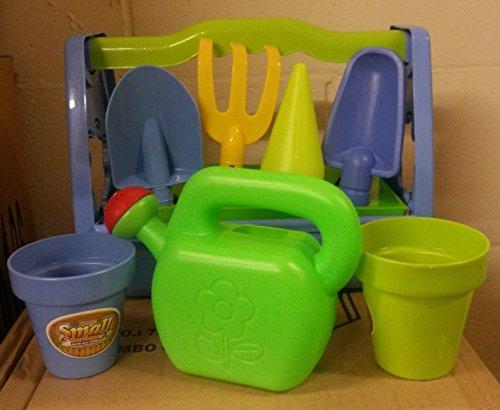 FB FunkyBuys Case attrezzi da giardino per bambini, 9pezzi, per giardinaggio e spiaggia kit con sabbia secchio, Spade e strumenti Kids Gift set