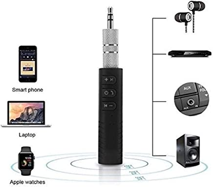 Ionix Imported BT450 Wireless Bluetooth Receiver 3.5mm Jack Stereo Bluetooth Audio Music Receiver Adapter for Speaker Car Aux Hands Free Kit Compatible with All Android, iOS and iOS Devices