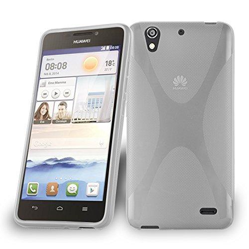 Cadorabo Funda para Huawei Ascend G630 en Semi Transparente - Cubierta Proteccíon de Silicona TPU Delgada e Flexible con Antichoque - Gel Case Cover Carcasa Ligera