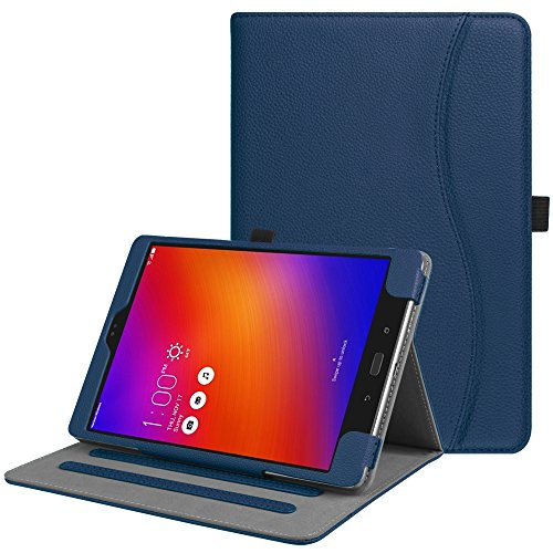 Fintie Asus ZenPad 3S 10 Z500M / ZenPad Z10 ZT500KL Case - Multi-Angle Viewing Folio Stand Cover with Pocket for ZenPad 3S 10 / Verizon Z10 9.7-Inch Tablet (Navy)