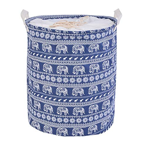 Mdsfe 1pc Cotton And Linen Dust Collecting Bucket Hamper Washing Toy Dirty Clothes Storage Organizer Laundry Baskets Bin 35x45cm - E6 35x45cm,a5