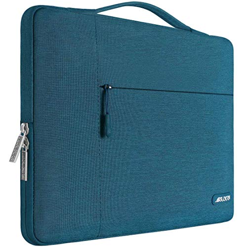 MOSISO Laptop Sleeve Compatible with MacBook Pro 16 inch with Touch Bar A2141, 15 15.4 15.6 inch Dell HP Asus Acer Samsung Sony Chromebook, Polyester Multifunctional Briefcase Bag, Deep Teal