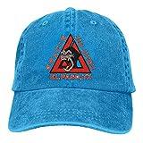 Yuanmeiju Gorra de Mezclilla Gracie Jiu Jitsu Academy Logo Baseball Caps Mens Womens Adult Adjustable Cowboy Hat Casquette Black