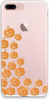 CasesByLorraine iPhone 8 Plus Case, iPhone 7 Plus Case, Halloween Cute Pumpkins Clear Transparent Case Flexible TPU Soft Gel Protective Cover for Apple iPhone 7 Plus & iPhone 8 Plus (P111)