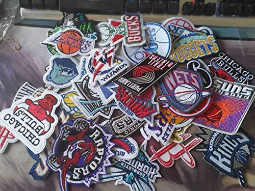 Aufnäher / Bügelbild, bestickt, geeignet für DIY-Jacken, T-Shirts, Rucksäcke, Jeans, Gepäck, 35 Stück, NBA Basketball-Logo-Stil
