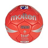 Molten HX3200 - Balón de Balonmano, categoría Infantiles, Rojo y gris, Talla 1