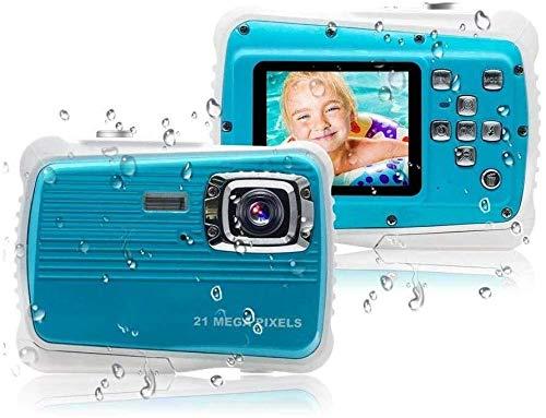 Cartoon Children's Camera, Waterproof Children's Camera, Best Gift for Girls/Boys 21MP HD Underwater Digital Camera, with 2.0 Inch LCD, 8X Digital Zoom