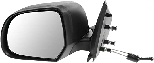 Mirror Manual Remote Textured Black Driver Side Left LH for 12-13 Nissan Versa