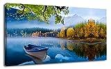 Arjun Canvas Wall Art Prints Blue Sky Lake...