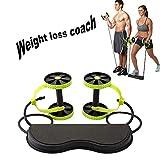 POEO AB Wheel Roller, Core Roller Attrezzature da Palestra, Addominali Workout Machine con Impugnature in Schiuma Comfort per Home Gym