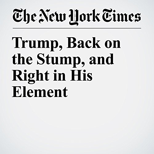 Trump, Back on the Stump, and Right in His Element copertina