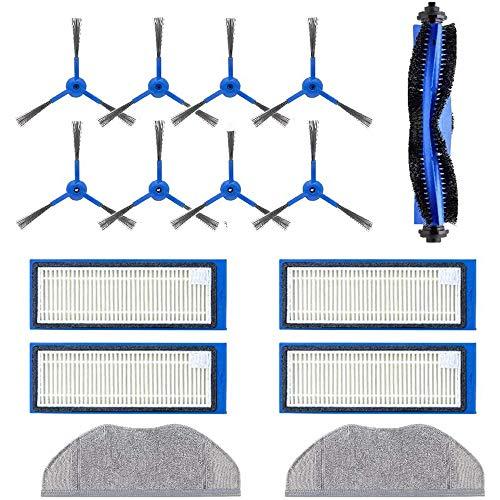 Anwor Zubehör für RoboVac L70 Hybrid, Ersatzteile/Ersatzset für RoboVac L70 1*Hauptbürste 8*Ersatzbürsten/Seitenbürsten 4*Ersatzfilter/Filter 2*Tücher für Eufy L70 Hybrid Staubsauger Roboter