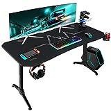 Furmax 55 Inch Gaming Desk T-Shaped...