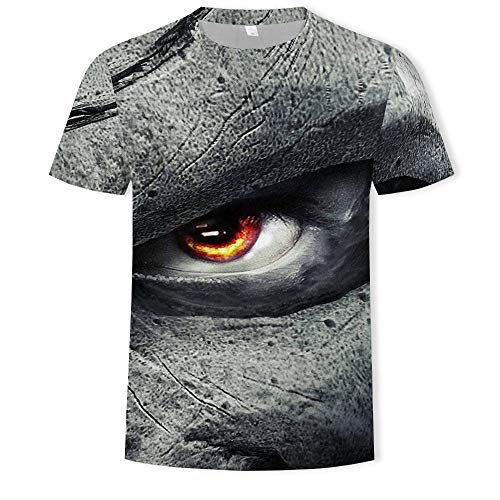 Summer 3D Three-Dimensional Men's Fashion Round Neck Short Sleeve T-Shirt