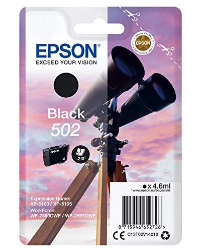 Epson Singlepack Black 502 Ink – Tintenpatronen (Original, Pigmenttinte, Schwarz, Epson, 1 Stück, Tintenstrahldruck)