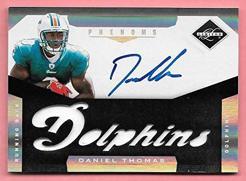Max Under blast sales 48% OFF 2011 Panini Limited #220 Daniel Thomas On Autograph Card Patch R