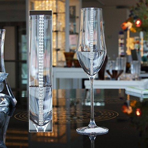 Flûte de champagne City Diamonds 220ml, transparent, verre, (GERMAN Cristal powered by CRISTALICA)