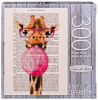Giraffe with Bubblegum Coco de Paris 300-Piece Puzzle