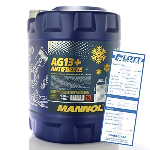 MANNOL Antifreeze AG13+ -40 Kühlerfrostschutz Kühlmittel 10L MN4014-10