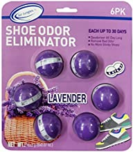 Air Jungles Odor Deodorizer Balls for Shoes, Gym Bags, Drawers, and Locker, Lavender, Natural Tea polyphenols and Essential Oil Long Lasting Odor Eliminator Air Freshener Twist Ball