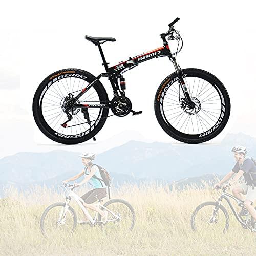 Bicicleta Plegable para Adultos, 24 26 pulgadas Bike Sport Adventure, Bicicletas de cross-country con doble amortiguación para hombres y mujeres/C / 24speed / 26inch